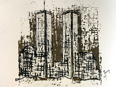 The Manning Arts Painting - Freedom Towers by Richard Sean Manning