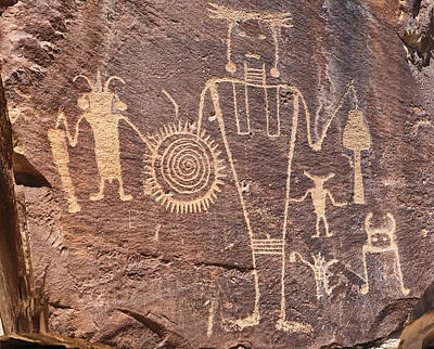 Freemont Photograph - Freemont Culture Petroglyphs by Melany Sarafis