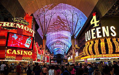 Freemont Photograph - Freemont Street Experience - Downtown Las Vegas by Jon Berghoff