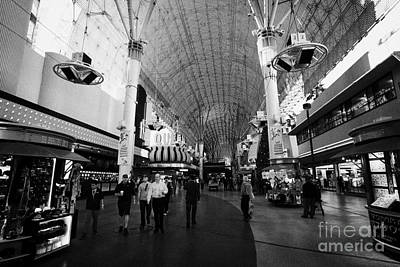 Freemont Street Photograph - freemont street experience downtown Las Vegas Nevada USA by Joe Fox