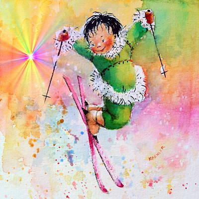 Kids Sports Art Painting - Freestyle Smiles by Hanne Lore Koehler