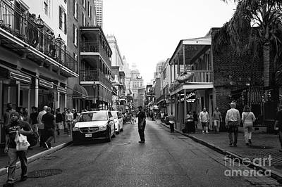 Freeze Frame On Bourbon Street Mono Print by John Rizzuto