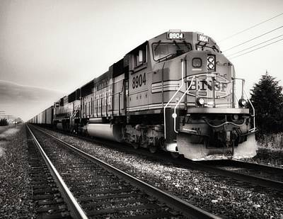 Naturalistic Photograph - Freight Train by Tom Druin