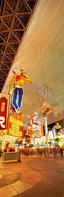 Fremont Street Downtown Las Vegas Print by Panoramic Images
