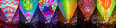 Fremont Street Experience Print by Amy Cicconi