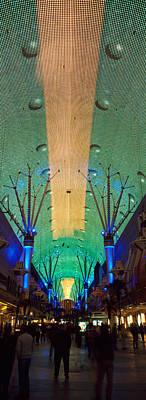 Fremont Street Las Vegas Nv Print by Panoramic Images
