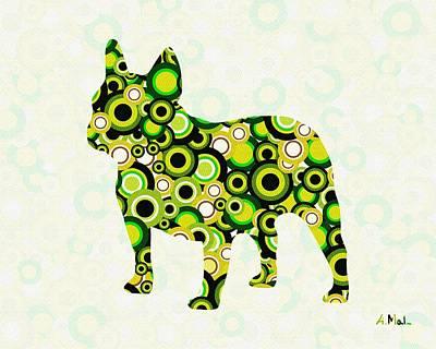 Dog Digital Art - French Bulldog - Animal Art by Anastasiya Malakhova