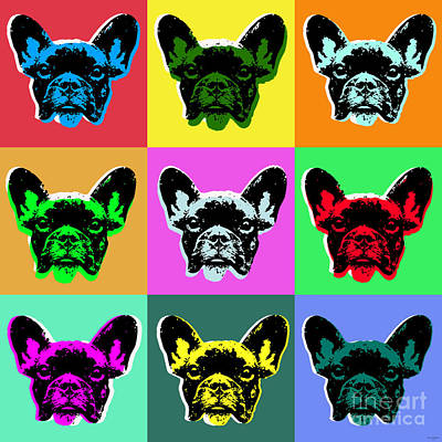 Puppy Digital Art - French Bulldog by Jean luc Comperat