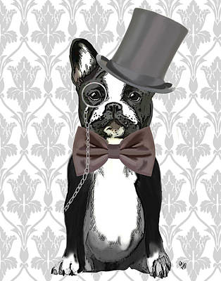 Bulldog Art Digital Art - French Bulldog Monsieur Bulldog by Kelly McLaughlan