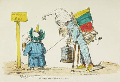Pour Photograph - French Caricature - Route De Cassel by British Library