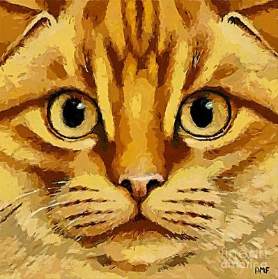 Pets Painting - French Cat by Dragica  Micki Fortuna