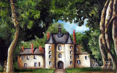 Chateau Mixed Media - French Chateau by Venus