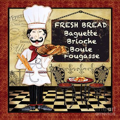French Chef-a Print by Jean Plout
