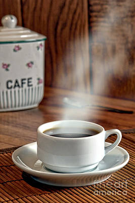 Steaming Photograph - French Coffee by Olivier Le Queinec
