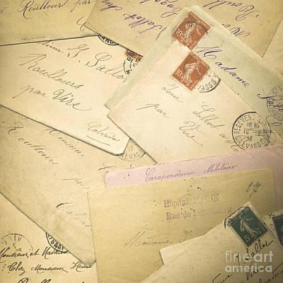 Ww1 Photograph - French Correspondence From Ww1 #2 by Jan Bickerton