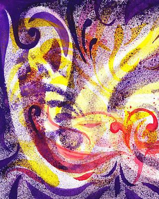 Creative Painting - French Curve Abstract Movement II by Irina Sztukowski