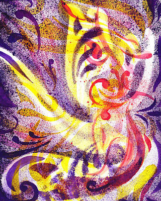 Creative Painting - French Curve Abstract Movement IIi by Irina Sztukowski