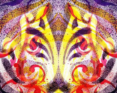 Creative Painting - French Curve Abstract Movement Vi Mystic Flower by Irina Sztukowski