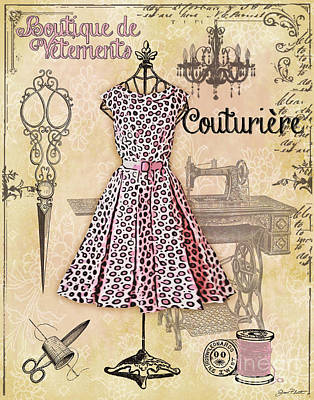 French Dress Shop-a Original by Jean Plout