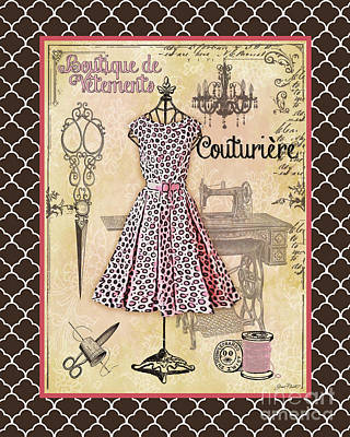 French Dress Shop-a2 Original by Jean Plout