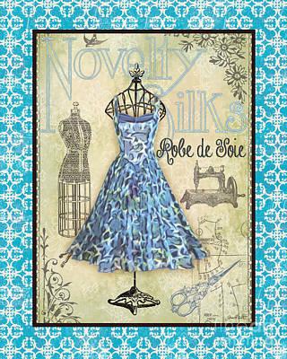 French Dress Shop-b1 Print by Jean Plout