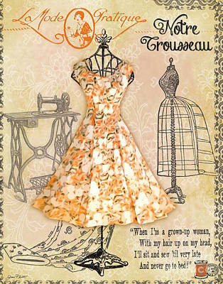 French Dress Shop-c Original by Jean Plout