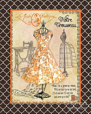 French Dress Shop-c2 Original by Jean Plout