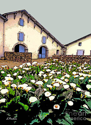 French Farmhouse In The Pyrenees Print by Linda  Parker