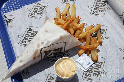 Montreal Chips Photograph - French Fries To Go by Ros Drinkwater