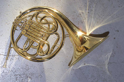 French Horn Iv Print by Jon Neidert