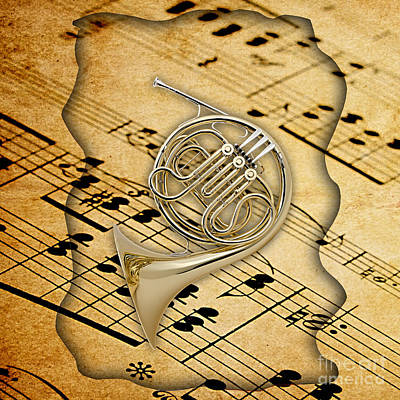 French Horn Collection Print by Marvin Blaine