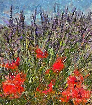 Wall Painting - French Lavender Field by Dragica  Micki Fortuna