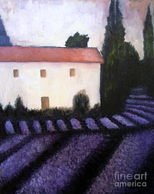 Chateau Mixed Media - French Lavender by Venus