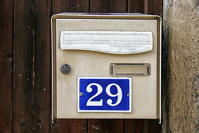 French Mailbox Number 29 Print by Georgia Fowler