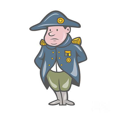 Napoleon Bonaparte Digital Art - French Military General Cartoon by Aloysius Patrimonio