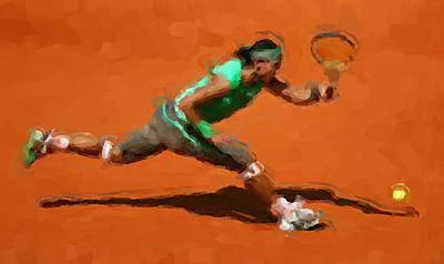 French Open Return Print by Brian Menasco