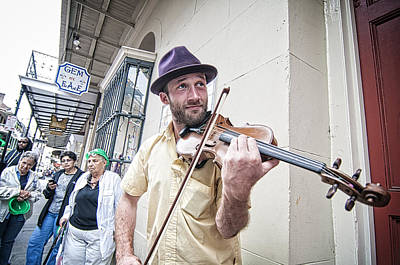Avant Garde Jazz Photograph - French Quarter Fiddler by Andy Crawford