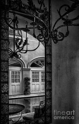 French Quarter Reflection Print by Kathleen K Parker