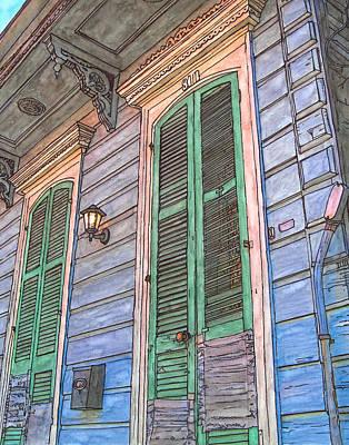 French Quarter Shutters 368 Original by John Boles