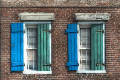 French Quarter Windows Print by Brenda Bryant
