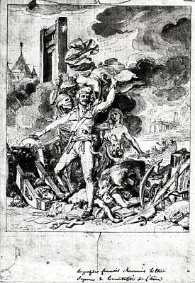Hunger Drawing - French Revolution Allegory by Granger