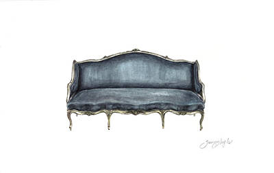 French Settee  Original by Jazmin Angeles