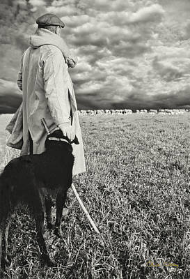 Commercial Art Photograph - French Shepherd - B W by Chuck Staley
