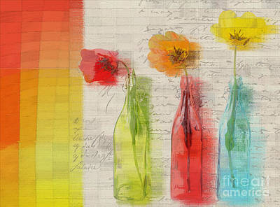 Floral Still Life Mixed Media - French Still Life - 02bt2-j039027088 by Variance Collections