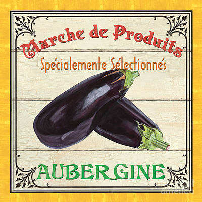 French Vegetable Sign 3 Print by Debbie DeWitt