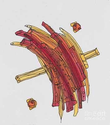 Fries Drawing - Frenchfried by Kristi Chapman