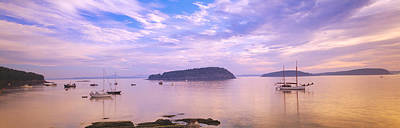 Overcast Photograph - Frenchman Bay, Bar Harbor, Maine, Usa by Panoramic Images