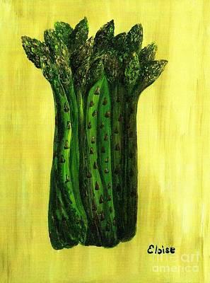 Asparagus Painting - Fresh Asparagus by Eloise Schneider