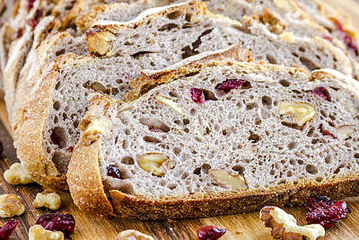 Fresh Baked Cranberry Walnut Bread Print by Teri Virbickis