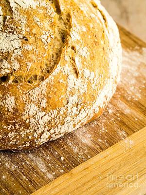 Fresh Baked Loaf Of Artisan Bread Print by Edward Fielding